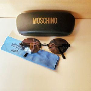 Moschino Vintage 90s Persol Rimless Sunglasses